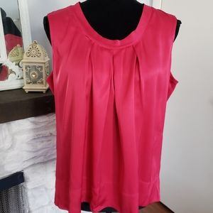 Talbots pink silk pleated blouse. Size 16P